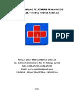 Pedoman Tentang Pelayanan Rekam Medis
