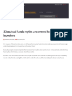 33 Mutual Funds Myths Uncovered for the First Time Investors
