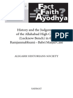 History and the Ayodhya Judgement