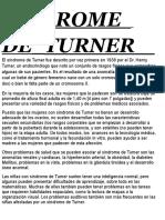 Síndrome de Turner El Síndrome de Turner Fue Descrito Por Vez Primera en 1938 Por El Dr