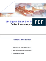 Six Sigma Black Belt Wk1-Define & Measure
