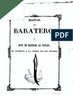 Manual Del Baratero 1849