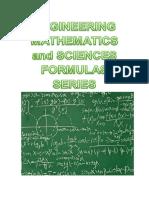 Engg Mathematics and Sciences Formulas Series