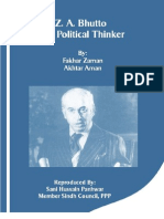 ZA Bhutto a Political Thinker