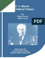 ZA Bhutto a Political Thinker