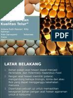 Identifikasi Kesegaran Dan Kualitas Telur Ppt Higine