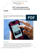 'Who Shared It_' How Americans Decide What News to Trust on Social Media
