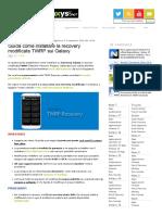 Guida Installare TWRP Recovery Sui Galaxy