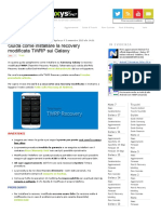 Guida Installare TWRP Recovery Sui Galaxy