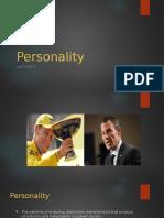 Lec 6- Personality
