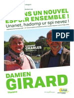 Législatives. Drôle de tract pour Damien Girard (EE-LV)