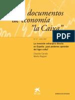 Inversión Extranjera Directa en España(Caixa)