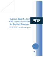 annual report about meta online sessions for english teachers