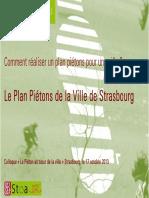 Comment réaliser un plan piétons pour une ville ? Le Plan Piétons de la Ville de Strasbourg