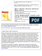 Volume 14 Issue 5 2011 Tsoukala, Anastassia - Football Crowd Disorder in the Italian and Greek Press