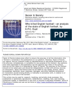 Volume 12 Issue 2 2011 S. Roy -- Who Killed English Football – an Analysis of the State of English Football, By K.P.C. Exall