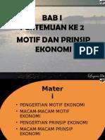 Motif Dan Prinsip Ekonomi 2