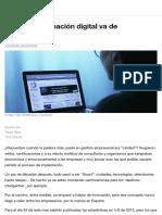 La transformación digital va de personas | Foro Económico Mundial