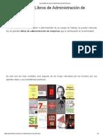 Los 33 Mejores Libros de Administración de Empresas