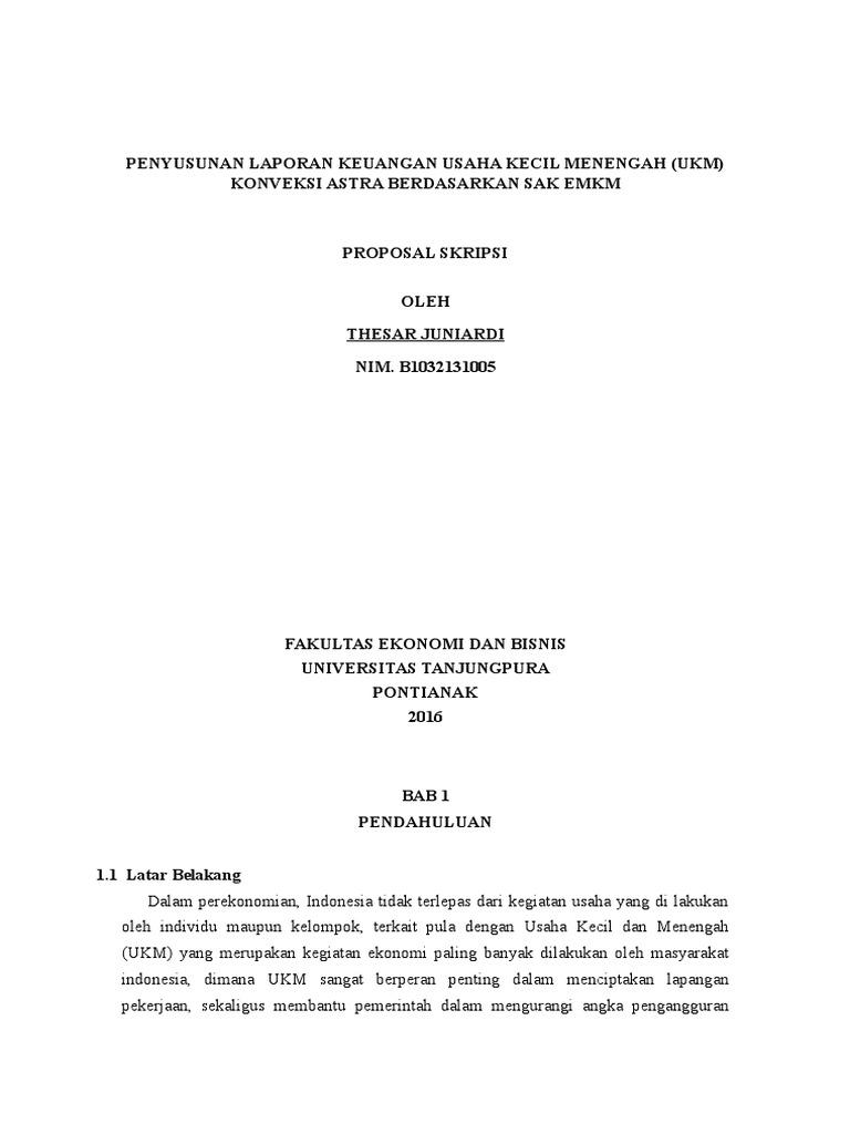 Skripsi Kualitas Laporan Keuangan Umkm