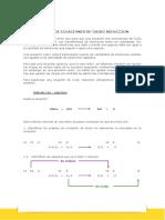 Balance de Ecuaciones de Oxido Reduccion