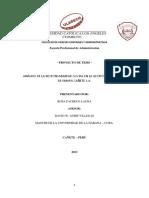 Variables Operacionalizacion de Variable de Gestion Empresarial