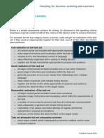Writing Assessment Criteria