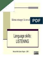 4 Skills Presentation and Listening