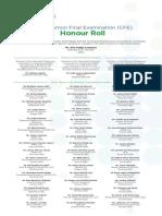 2015 CFE Honour Roll English