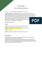 social studies unit overview and lesson plan