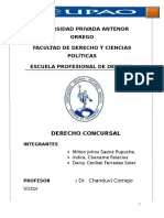 Derecho Concursal Peruano- Upao 2015