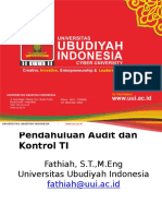 Audit TI 1- Pendahuluan Audit Dan Kontrol TI