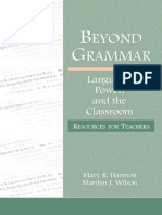 (Language, Culture, And Teaching) Mary R Harmon_ Marilyn J Wilson-Beyond Grammar _ Language, Power, And the Classroom-L. Erlbaum (2006)
