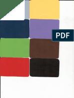 Tarjetas del test de los colores