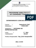 Programas Analitico y Final Civil 2010