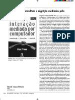 Resenha Comunicação, cibercultura e cognição mediadas pela interatividade