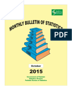 Monthly Statistics Bulletin October, 2015