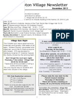 131101 Quidhampton Village Newsletter November 2013