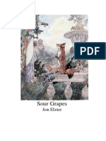 Jon ELSTER (1983) - Sour Grapes. Studies in the Subversion of Rationality