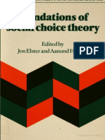 Jon ELSTER, Aanund HYLLAND (Eds.) - Foundations of Social Choice Theory