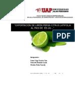 Exportacion de Limon