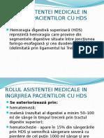 Rolul Asistentei Medicale in Ingrjirea Pacientilor Cu Hds