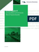 Eindrapport enquêtecommissie Boompjeskade vastgoedorganisatie gemeente Rotterdam