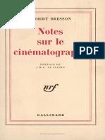 Notes Sur Cinematographe