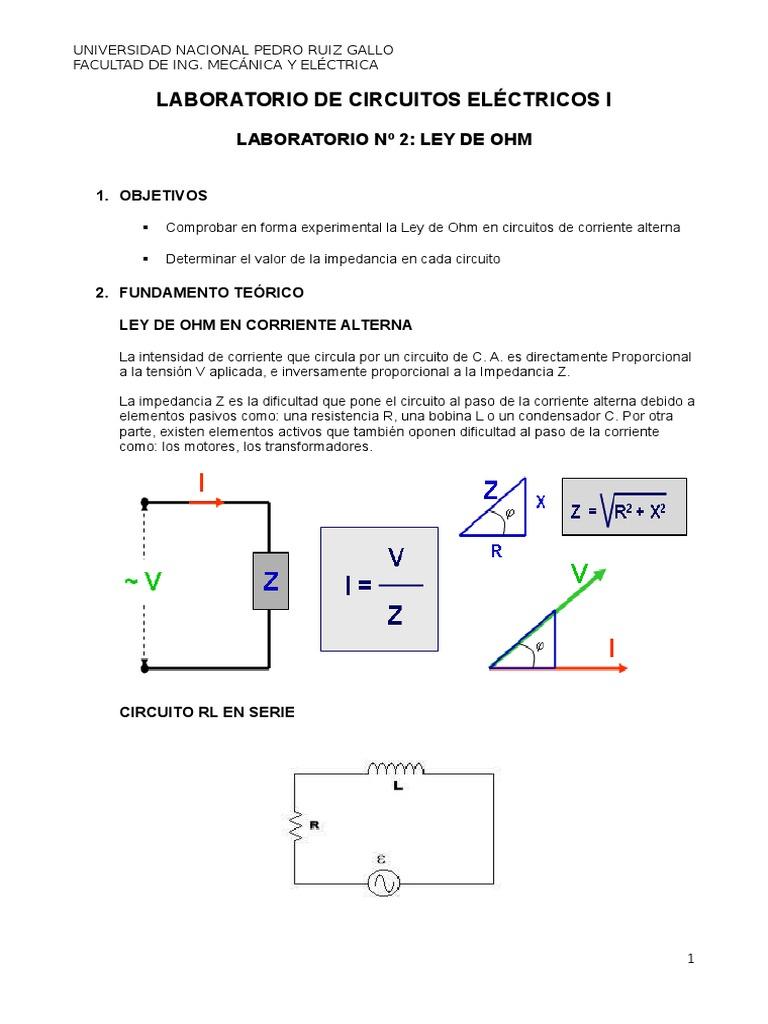Circuito Z : Laboratorio 2 circuitos eléctricos ii