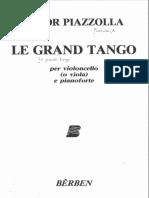 Piazzolla Le Grand Tango Piano Part