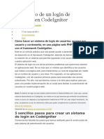 Desarrollo de Un Login de Usuarios en CodeIgniter
