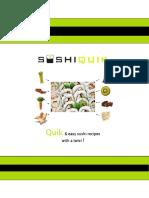 SushiQuik Sign Up Recipe Book