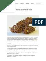 Is Marijuana Bulletproof_Bulletproof