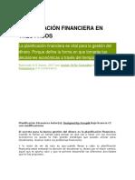 Planificación Financiera en Tres Pasos